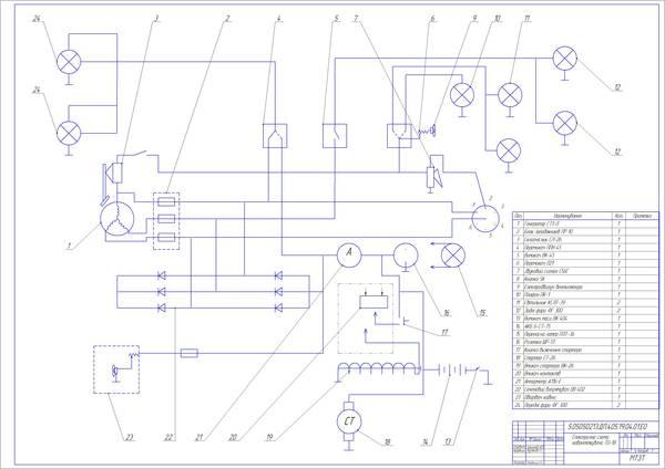 Електрична схема навантажувача