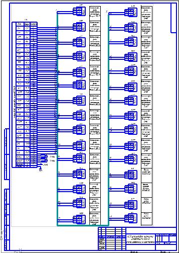 АСУ установки прокалки нефтяного кокса Схема соединений и  АСУ установки прокалки нефтяного кокса Схема соединений и подключений Чертеж Машины и аппараты нефтехимических