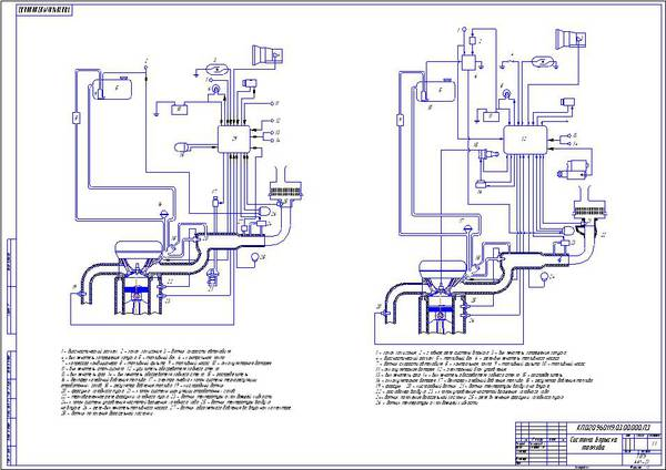 Чертеж двигателя 3S-FE и схема