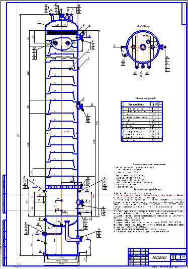 Поиск Клуб студентов Технарь  Технологическая схема Абсорбер Спецификация Чертеж Оборудование для добычи и подготовки нефти и