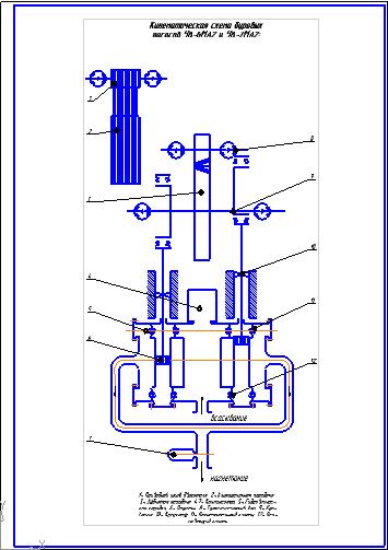 Чертежи Графическая часть Курсовая работа Кинематическая схема  Чертежи Графическая часть Курсовая работа Кинематическая схема буровых насосов У8 6МА2 и