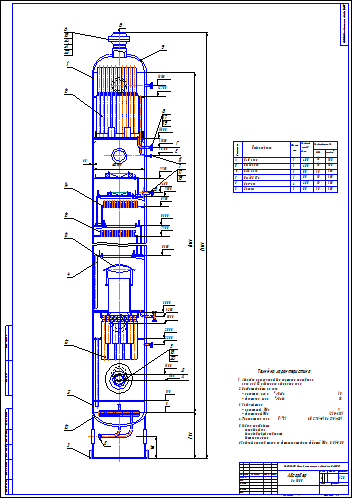 Поиск Клуб студентов Технарь  Абсорбер вертикальный Ду 1800 Чертеж Оборудование для добычи и подготовки нефти и газа
