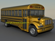 Detailed School bus