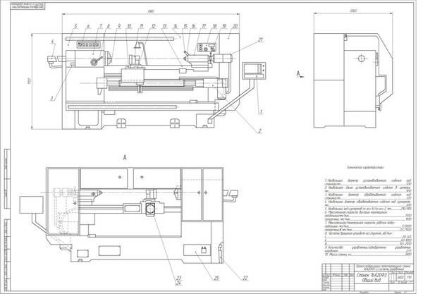 Проект модернизации металлорежущего станка АФ и системы   1875 руб