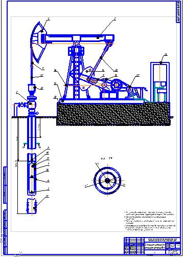 Поиск Клуб студентов Технарь  Скважинная штанговая насосная установка Чертеж Оборудование для добычи и подготовки нефти и газа