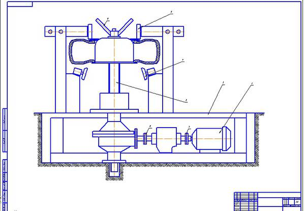 Все работы студента vjycnh Клуб студентов Технарь  Конструкторская часть Стенд для демонтажа шин грузовых автомобилей