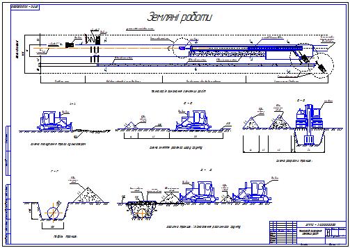 Все работы студента Клуб студентов Технарь  Технология выполнения земляных работ Чертеж Оборудование транспорта нефти и газа Курсовая работа