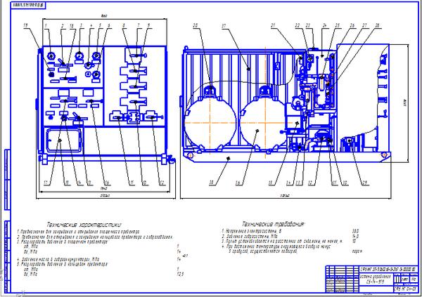 Модернизация пульта управления буровой установки СУ  Модернизация пульта управления буровой установки СУ 14 916 станция гидравлического управления противовыбросовым