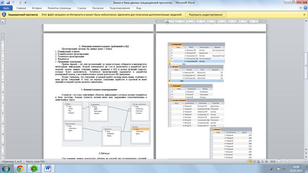 Контрольная работа по дисциплине Банки и базы данных Работа  Контрольная работа по дисциплине Банки и базы данных