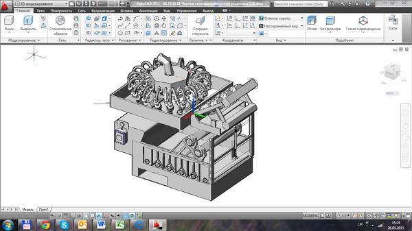 Все работы студента Клуб студентов Технарь  Ситогидроциклонная установка 3Д Чертеж Оборудование для бурения нефтяных и газовых скважин