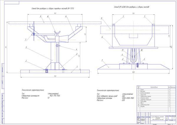 Модернизация стенда для ремонта переднего моста грузовых   конструкторская часть дипломного проекта За деньги За деньги 990 руб