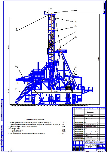 Поиск Клуб студентов Технарь  БУ 4500 270 ЭК БМ Чертеж Оборудование для бурения нефтяных и газовых скважин