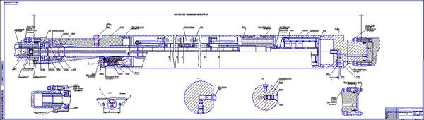 Все работы студента Клуб студентов Технарь  Электродвигатель ПЭД32 45 63 117ЛГВ5 для УЭЦН Чертеж Оборудование для