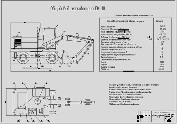 экскаватора ЕК-18