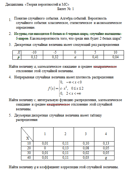 Контрольная работа по статистике ургэу 2 вариант 2206